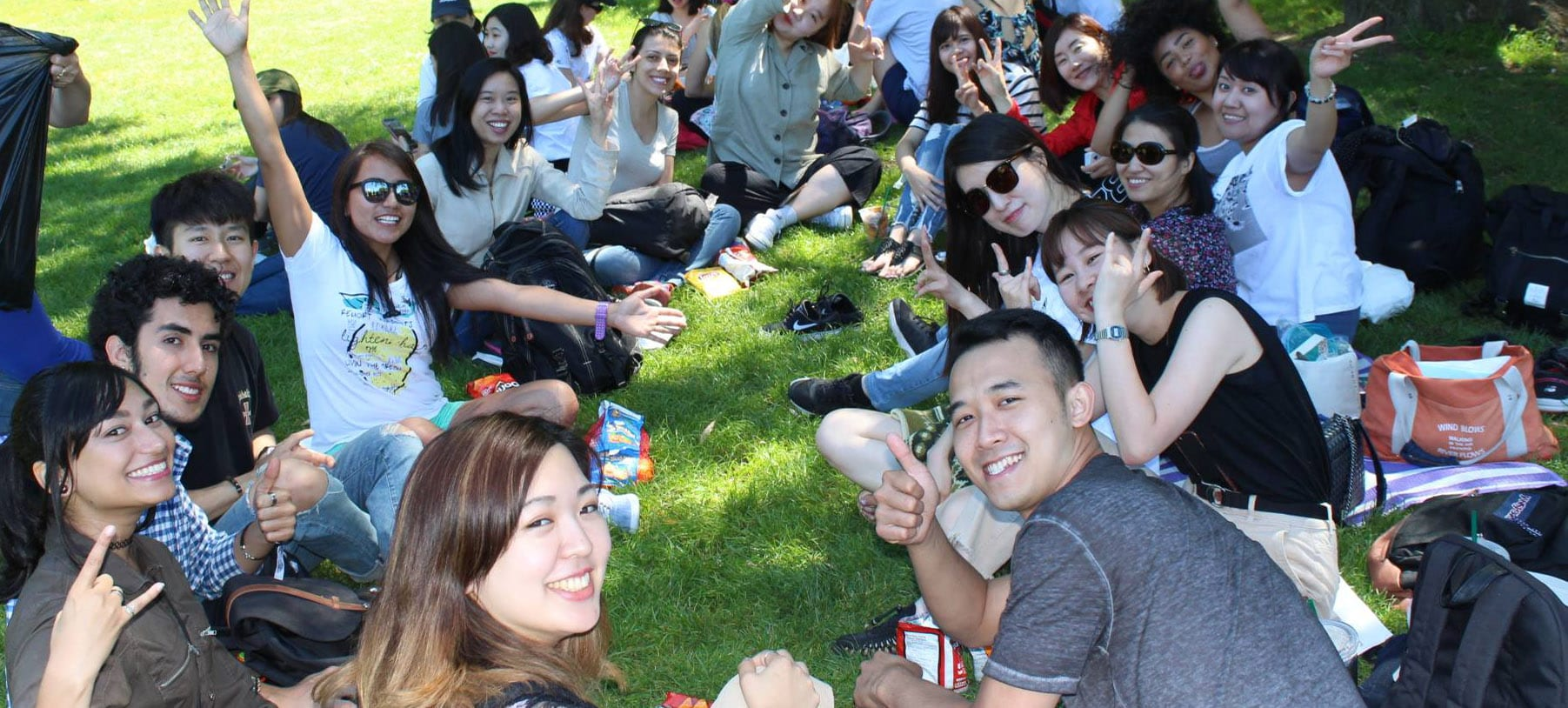 Vancouver ESL students enjoy party in park